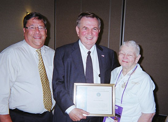 "Betty A. Freeman, LTG (Ret) Claude M. ""Mick"" Kicklighter, Jim Fisher"