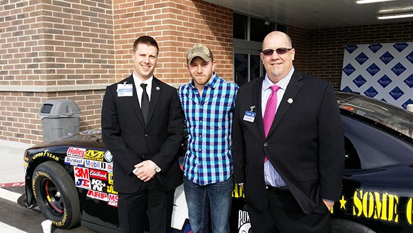 Bryan Rinker (Bryan Rinker and Patrick A. Walker of Sam's Club with Jeffrey Earnhardt