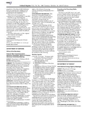 20141030_VWCAC_Federal_Register_Public_Notice