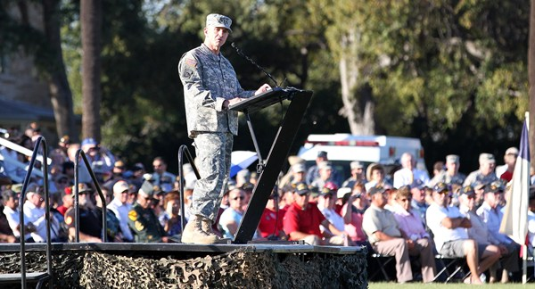 Commanding General Speaks