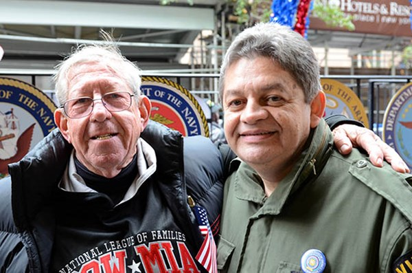 National League of Families member and Vietnam Veteran Victor Martinez after riding The United State