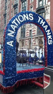 Chris Van Cleave performs at NYC Veterans Parade