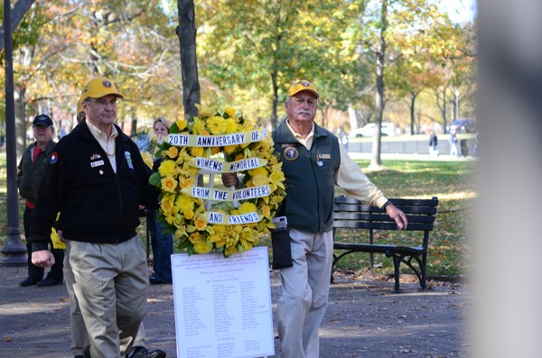 "Park Service volunteers affectionately called ""Yellow Hats"" honored all women who served"