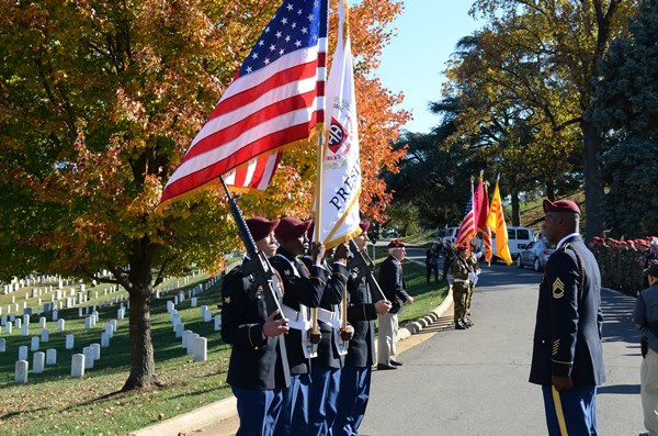 Washington, DC -- November 11, 2013 -- Women in the Military Service for America Memorial honored re