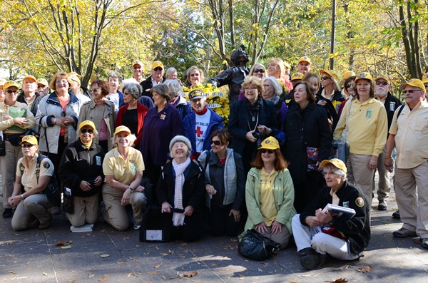 During a 20-year anniversary of the Vietnam Women's Memorial remembrance celebration, Denver Park