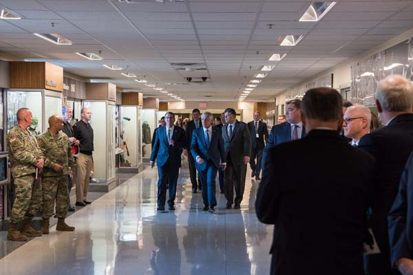 Secretary of Defense Ash Carter attends a Vietnam War hallway dedication ceremony.