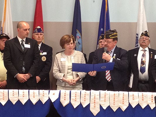 Salem State University's veterans affairs office and the alumni association recognized their alumni