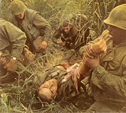 Evacuation of a Severely Wounded Comrade
