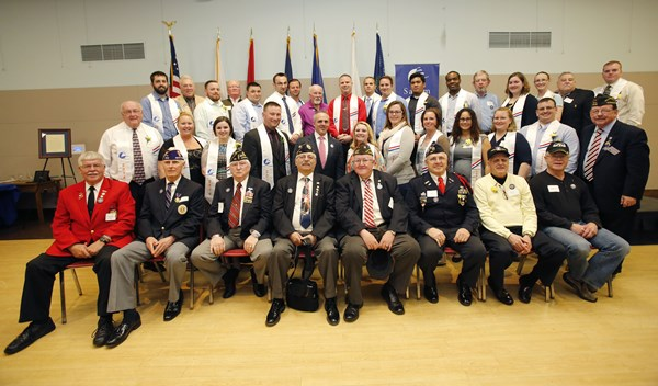 Representatives of the Salem, Massachusetts Veterans Council and Vietnam veterans participated in th