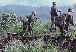 Infantry Patrol Moves to Assault