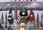 CW5 John Harris Speaks at Ceremony Held at Fort Irwin