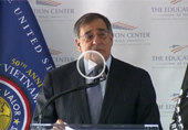 Leon Panetta Speaks at the Groundbreaking of the Education Center