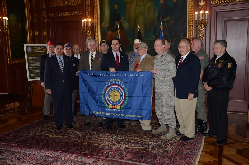 March 29, Governor Walker and Wisconsin Department of Veterans Affairs Secretary John Scocos kicked off the 50th Anniversary celebration in Wisconsin.