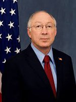 Secretary of Interior Ken Salazar during Memorial Day at The Wall 2012