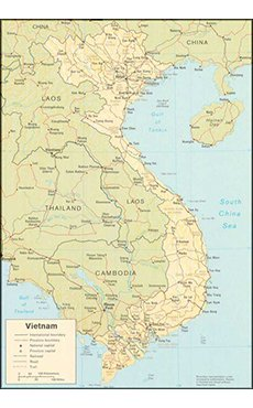Maps maps vietnam war commemoration maps of north and south vietnam sciox Image collections