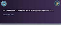 Vietnam War Advisory Committee Meeting 01152016