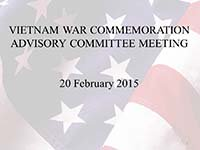 Vietnam War Advisory Committee Meeting 02202015