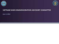 Vietnam War Advisory Committee Meeting 06032016