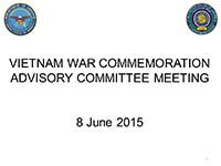Vietnam War Advisory Committee Meeting 06082015