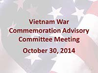 Vietnam War Advisory Committee Meeting 10302014