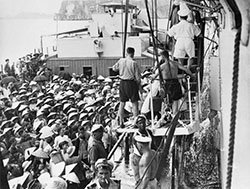 Vietnamese Refugees at the Port of Haiphong