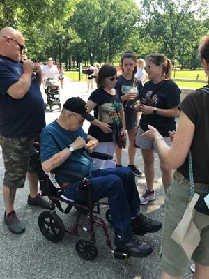 Numerous Vietnam Veterans were pinned at a ceremony that took place during Rolling Thunder 2018.
