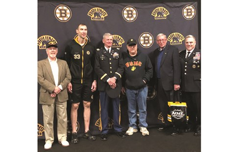 On March 30, 2019 the Boston Bruins honored Vietnam veterans during the game with a pinning ceremon.