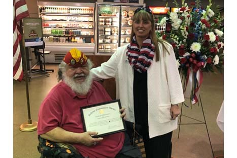 Ceremony at Harrison Village Commissary