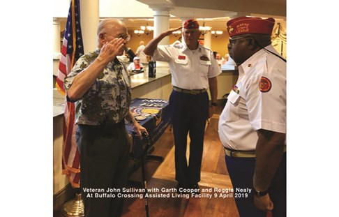 Pinning ceremony by the Marine Corps League Detachment 1267, a Commemorative Partner