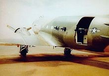"An AC-47 ""Spooky: gunship helped keep the North Vietnamese at bay during the battle of  Lang Vei."