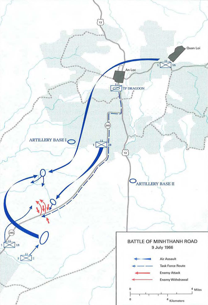 Battle of Minh Thanh Road Map