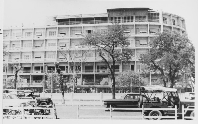 Photo taken of the Brink Hotel in Saigon, South Vietnam, in January 1964