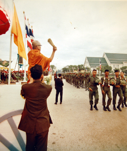 Buddhist Monk Blesses Royal Thai Forces