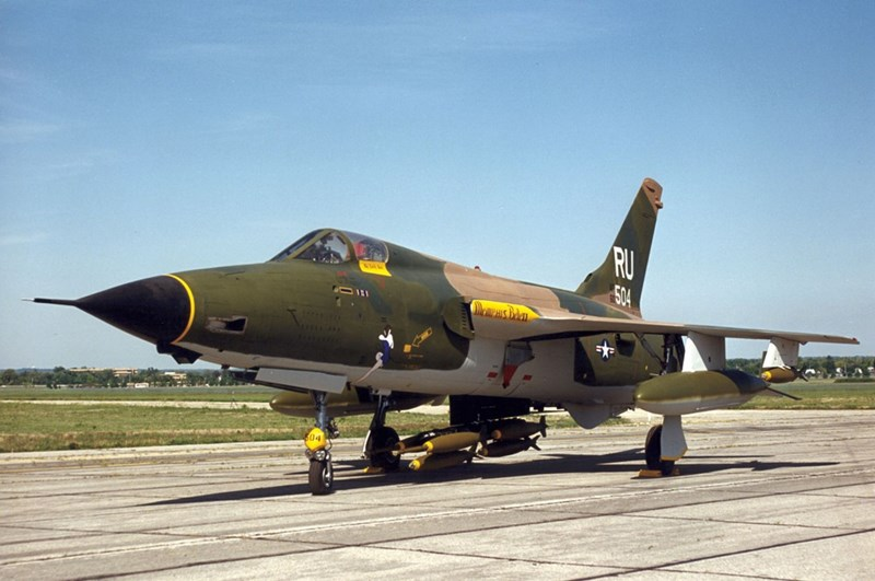 F-105 Thunderchief, similar to the one flown by Majors Bennet and Magnusson.