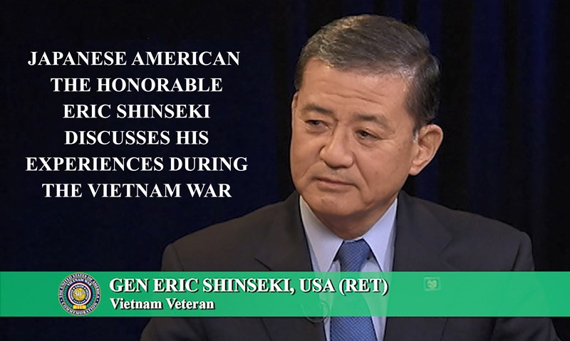 Japanese American the Honorable Eric Shinseki Discusses His Experiences During the Vietnam War.