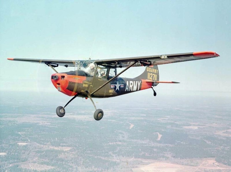 A U.S. Army L-19 Bird Dog similar to the one flown by Captain Daniel Dawson when he was shot down on November 6, 1964