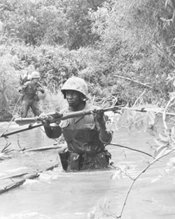Marines Patrolling through Quang Trinear Dong Ha
