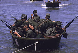 Marines in Outboard Motor Boats