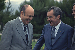 President Nixon with Melvin Laird