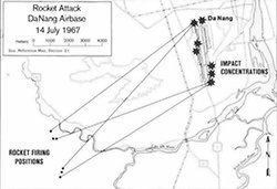 Rocket Attack on Đà Nẵng Airbase Map