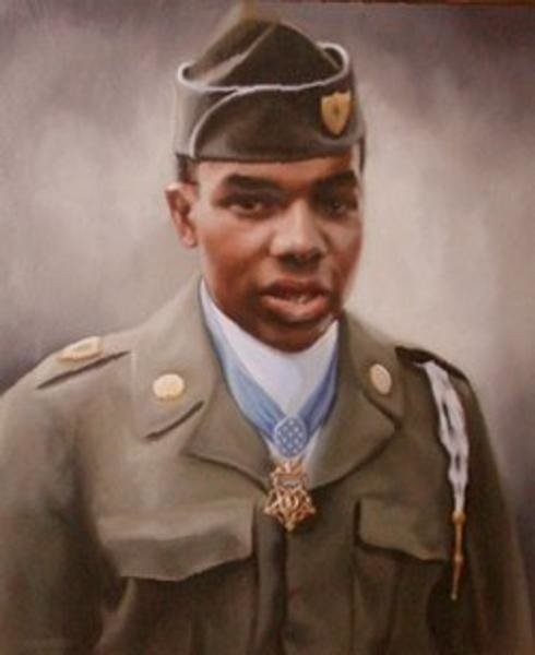 Painting of Sergeant First Class Eugene Ashley, Jr., Company C, 5th Special Forces Group (Airborne), 1st Special Forces.