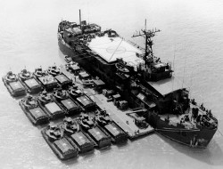 USS Colleton and Armored Landing Craft