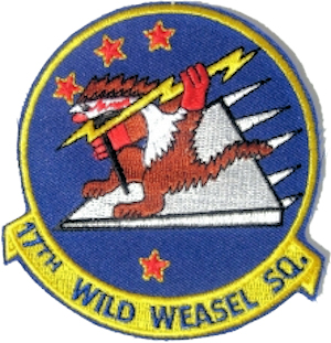 Unofficial patch of the 17th Wild Weasel Squadron (U.S. Air Force)
