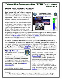 VWC SITREP 2015, Issue 10